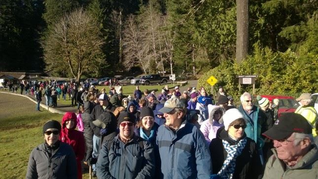 Sunshine, smiles and walking for miles. Hundreds of First Day Hikers showed up at Lake Sylvia State