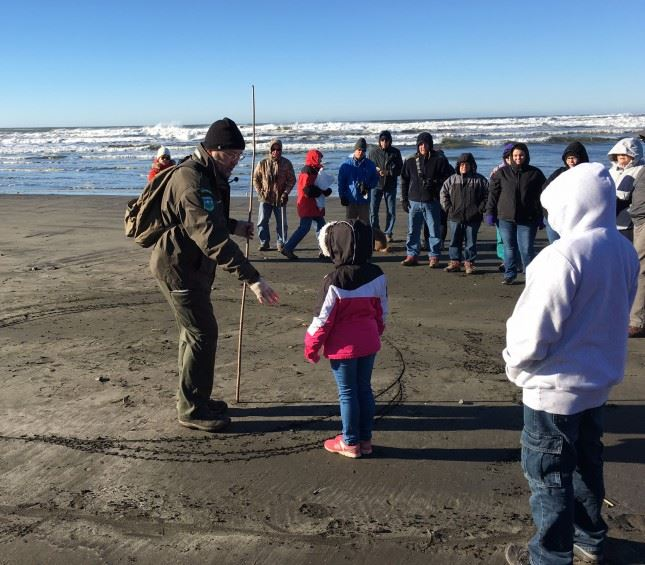 Hike a little; learn a lot! First Day Hikers got a lot more than exercise at Cape Disappointment Sta