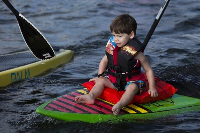 Paddleboarding Kid