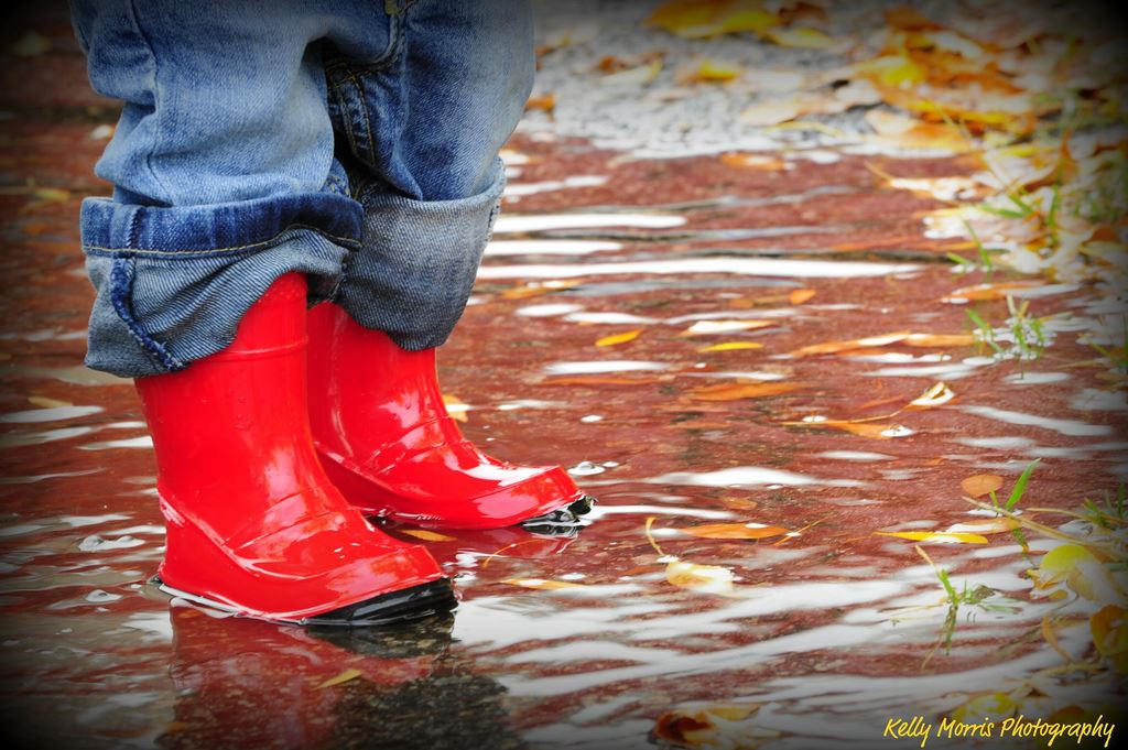 Rainy Day FKR Red Boots Kelly Morris