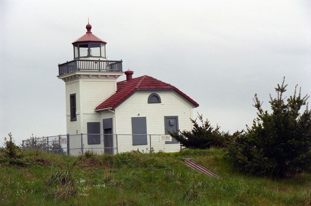 Burrows Island Light Station is just outside the park boundary.