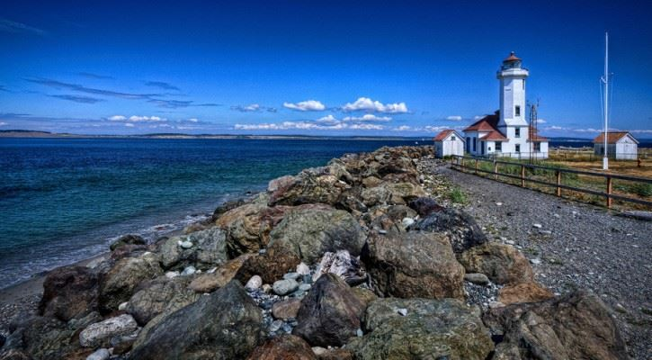 Point Wilson Lighthouse at Fort Worden Historical State Park