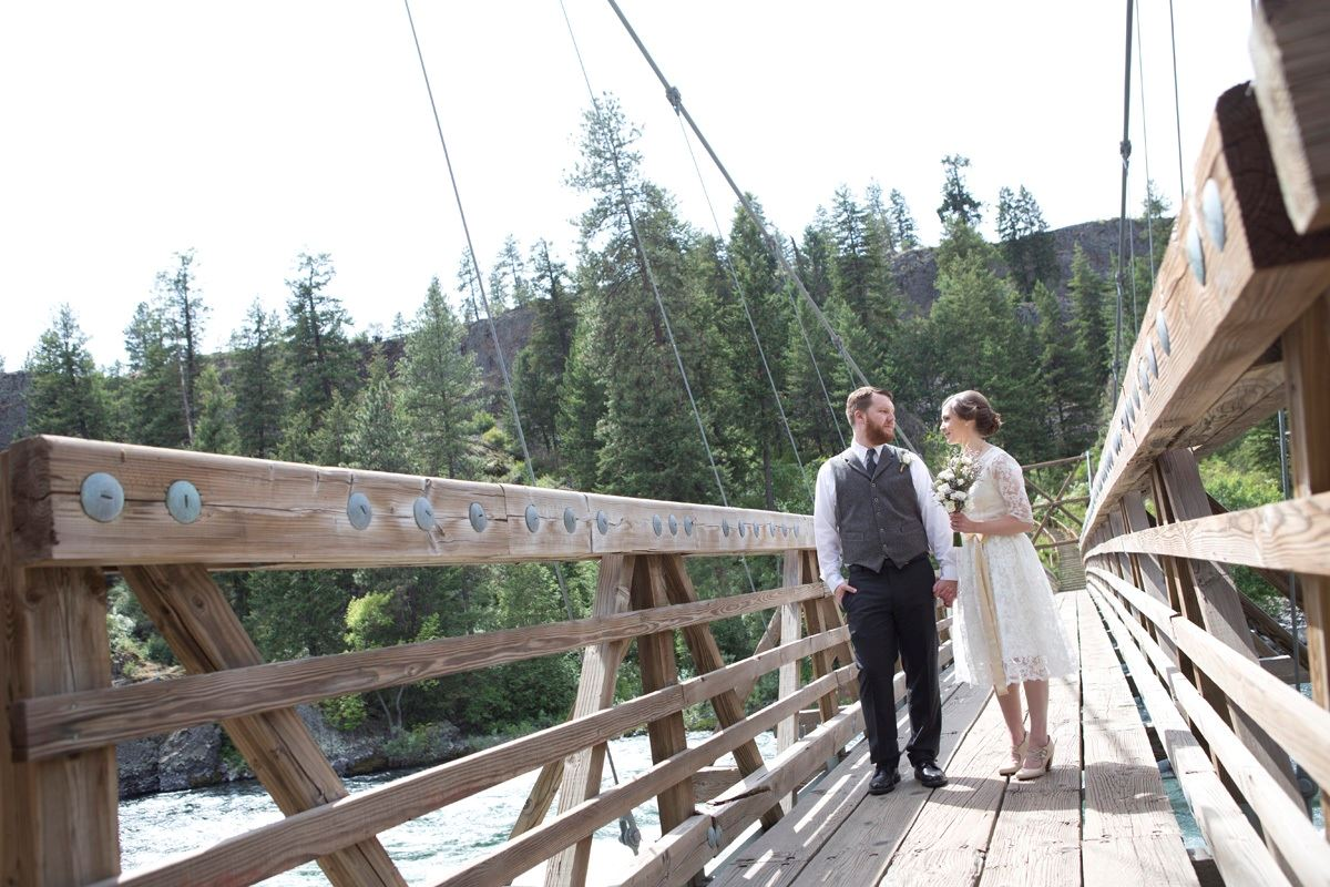Riverside Wedding on the Bridge