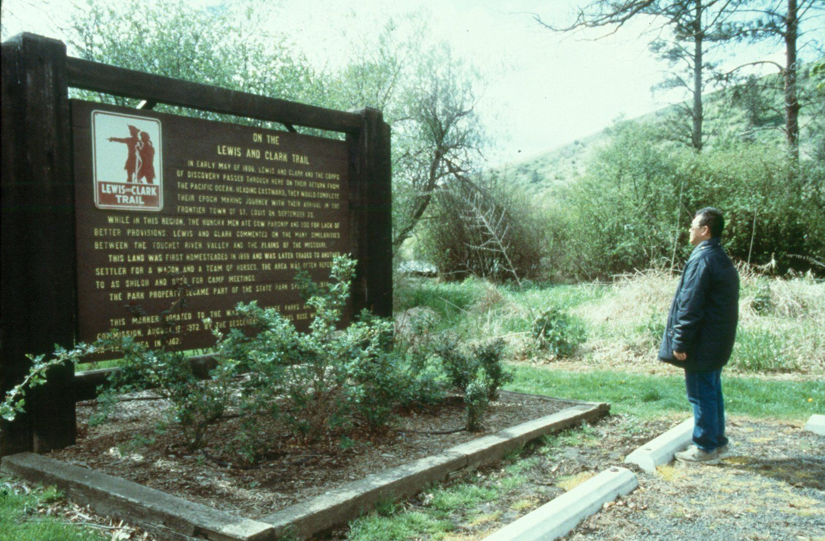 Lewis and Clark Trail interpretive sign