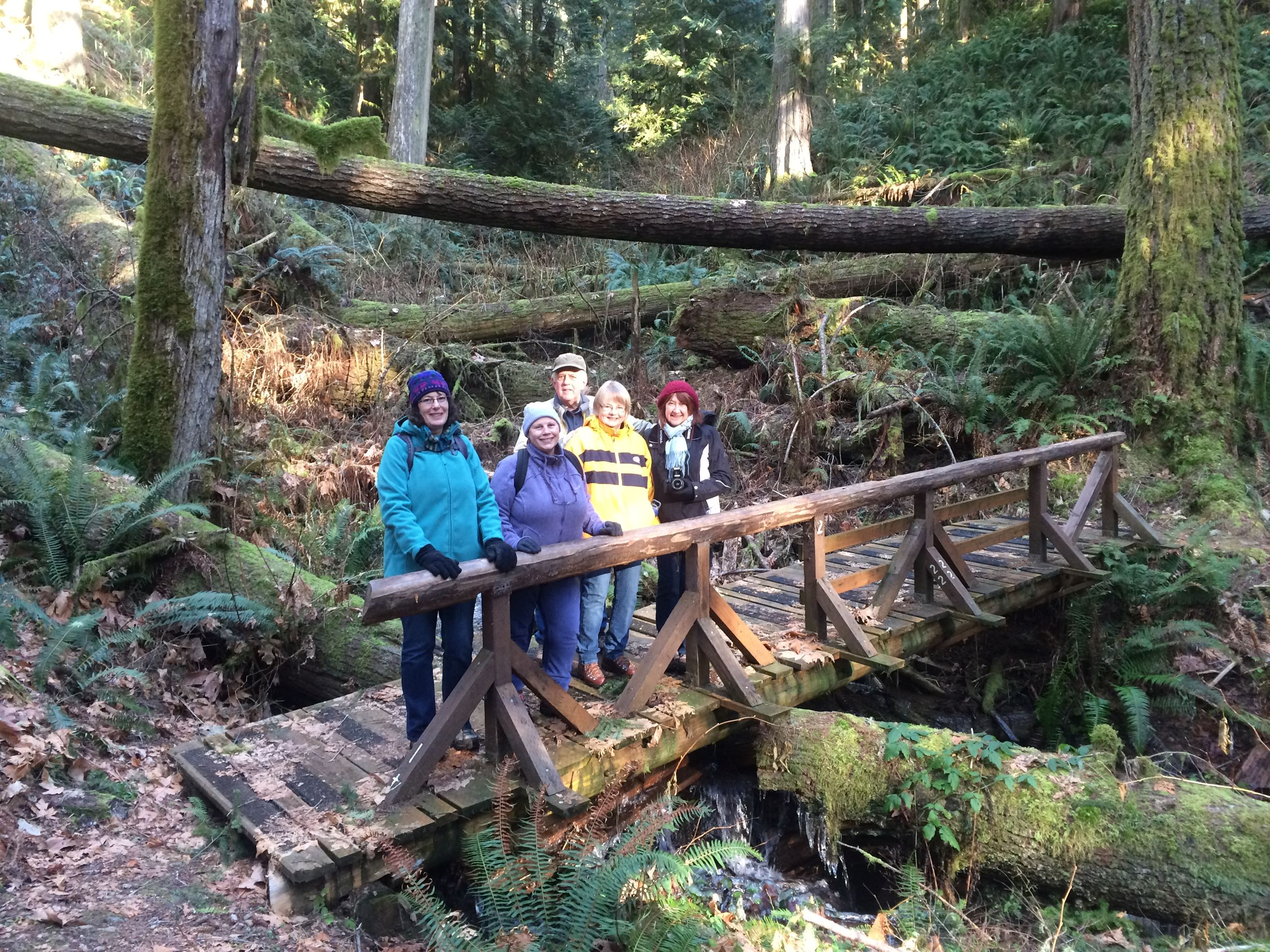 Rockport Hikers on a Bridge