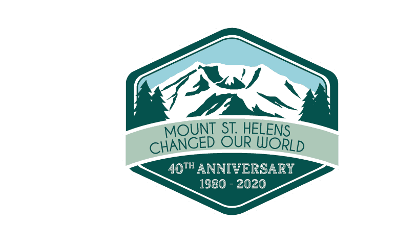 Mt St Helens 40th anniversary logo pantone conversion