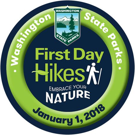 First Day Hikes 2.25 Pin 2018